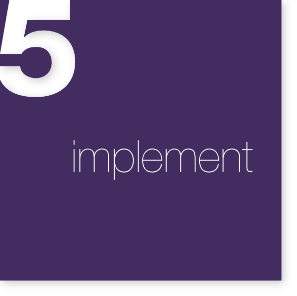 Once your happy with your integrated financial plan, OWM gets to work on implementing various action steps.