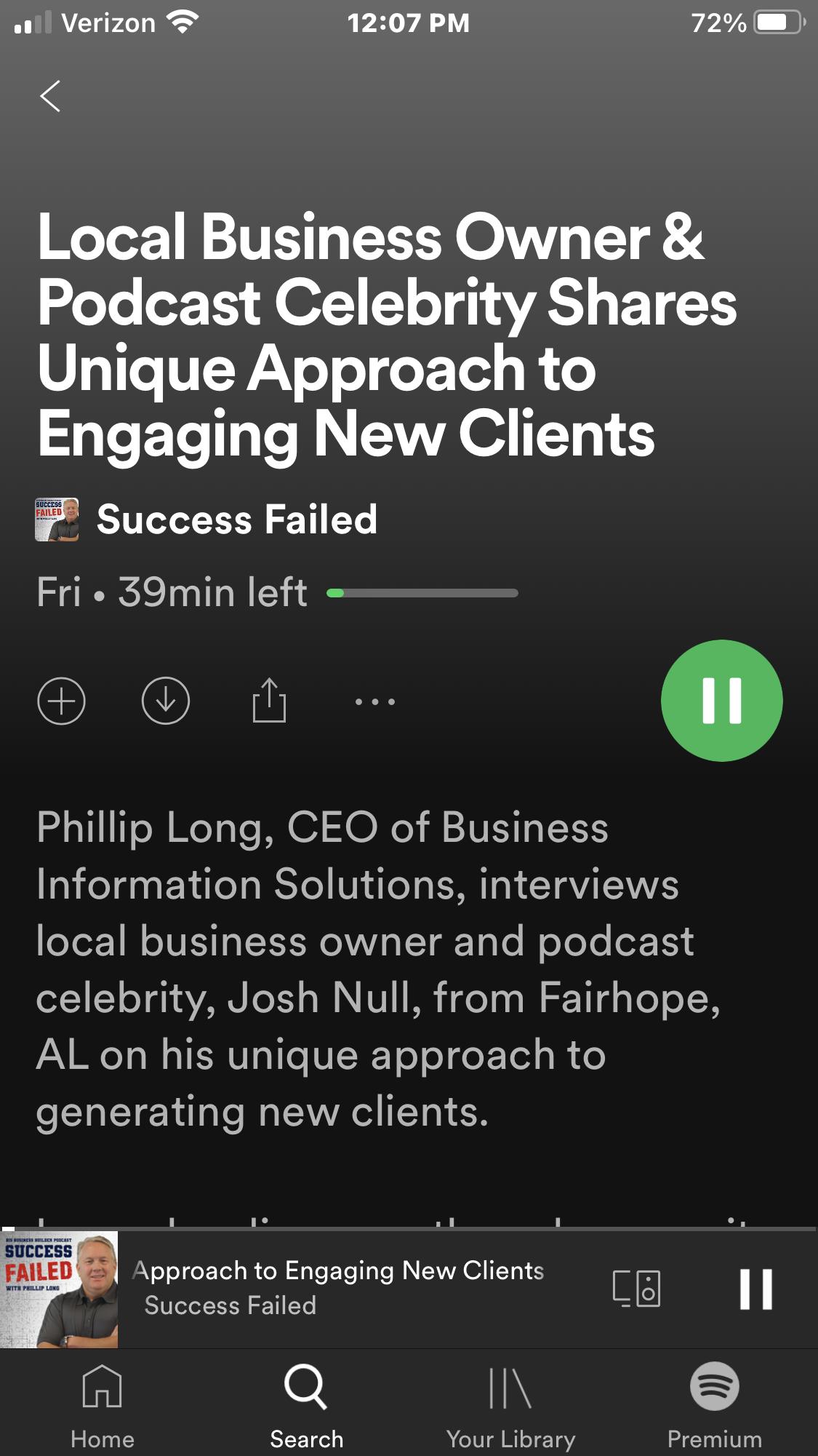 Josh's guest appearance on the Success Failed podcast Thumbnail