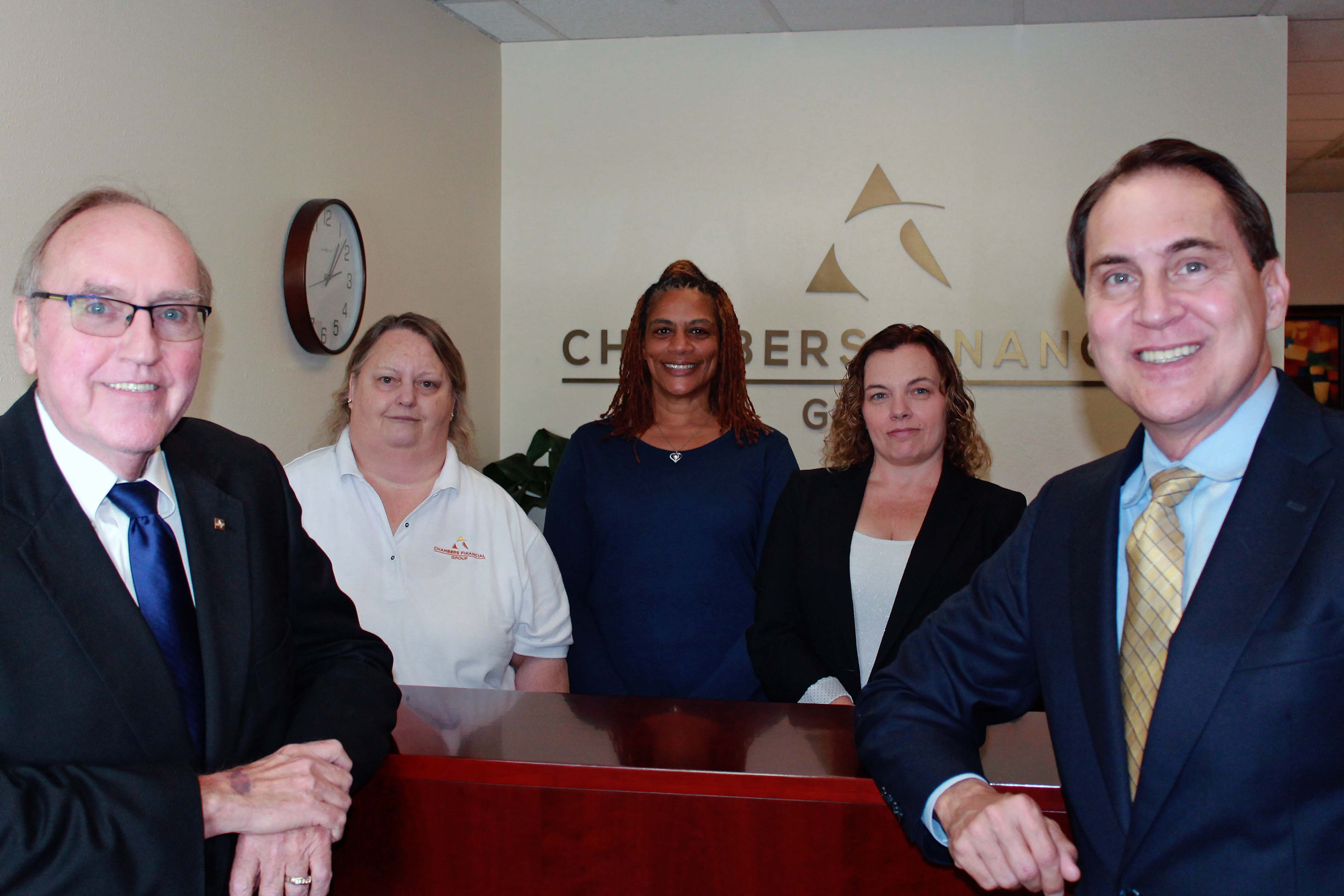 Chambers Financial Group Team in Largo office.