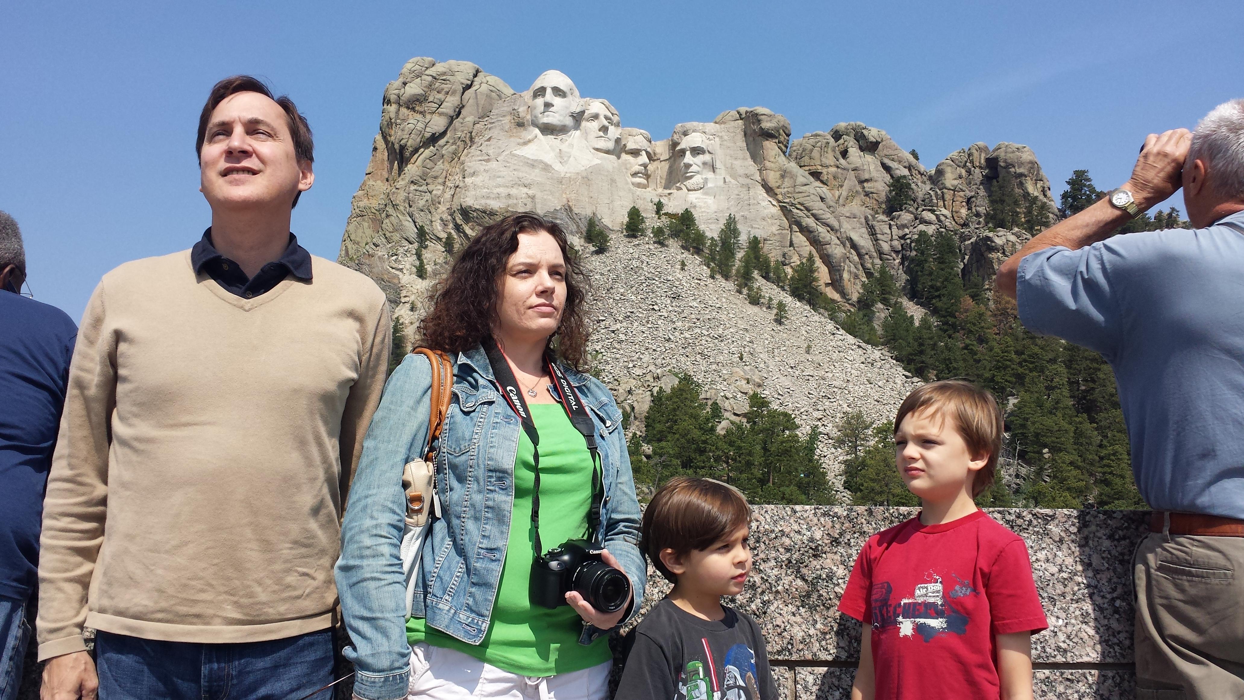 Chambers Family at Mount Rushmore 2014