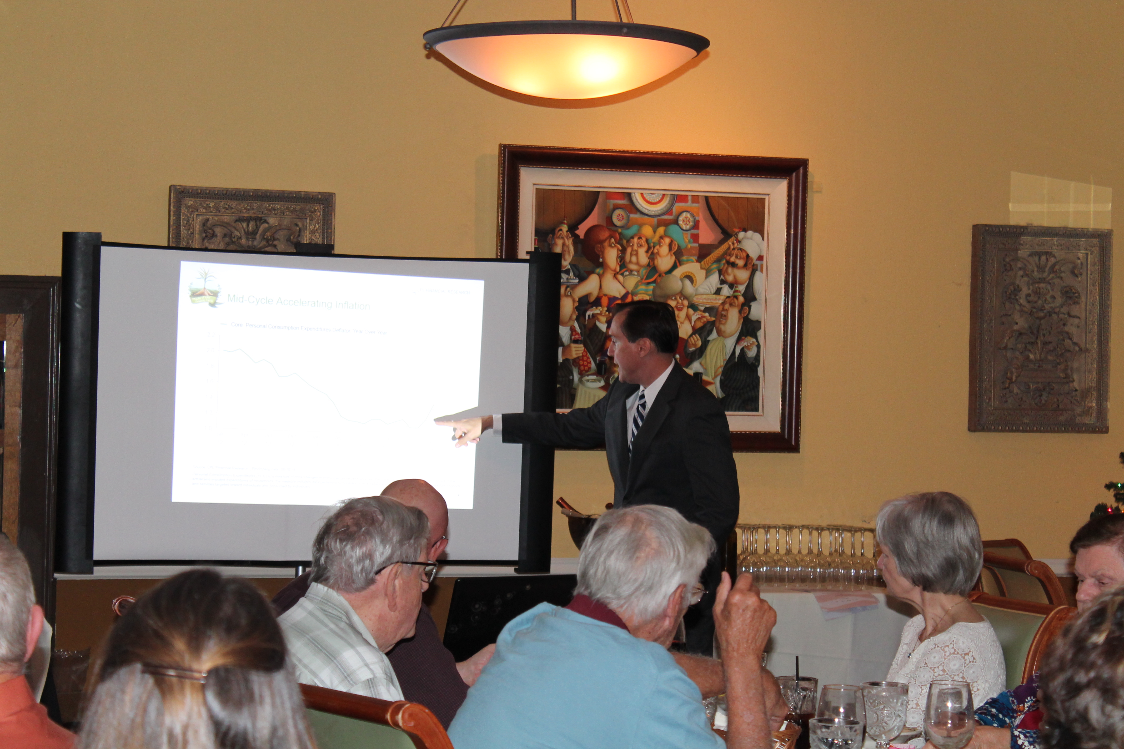 Curtis W. Chambers giving a presentation