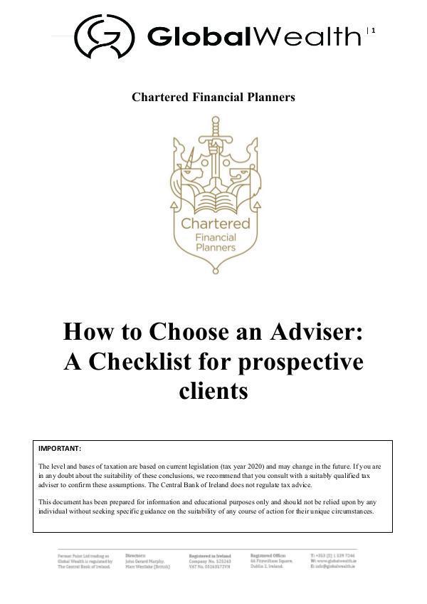 How to choose an advisor Ireland Thumbnail