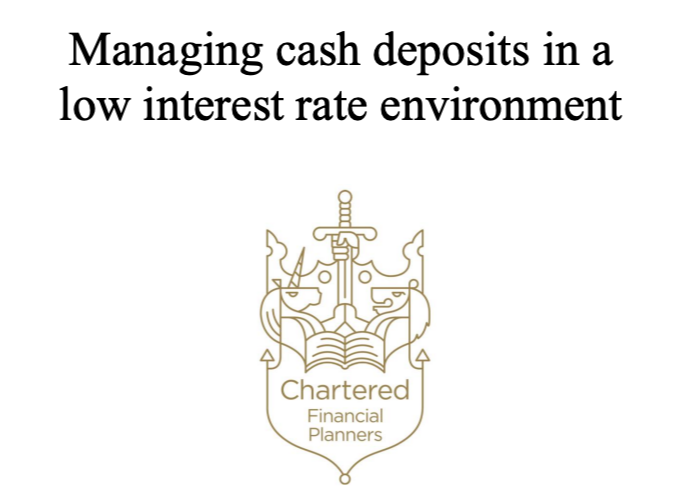Managing Cash Deposits in a Low Interest Rate Environment  Thumbnail