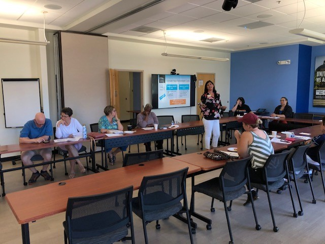 Angela presenting at FPA Pro Bono Day Tucson, AZ Ascension College Planning