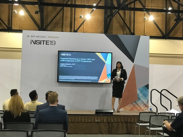 Angela presenting at Insite2019 Tucson, AZ Ascension College Planning