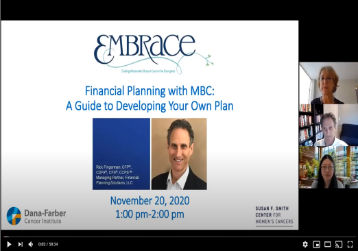 2020 Metastatic Breast Cancer Forum: Financial Planning with BMC Thumbnail