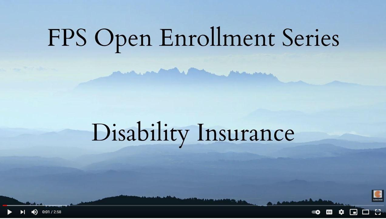 Open Enrollment Series: Disability Insurance Thumbnail