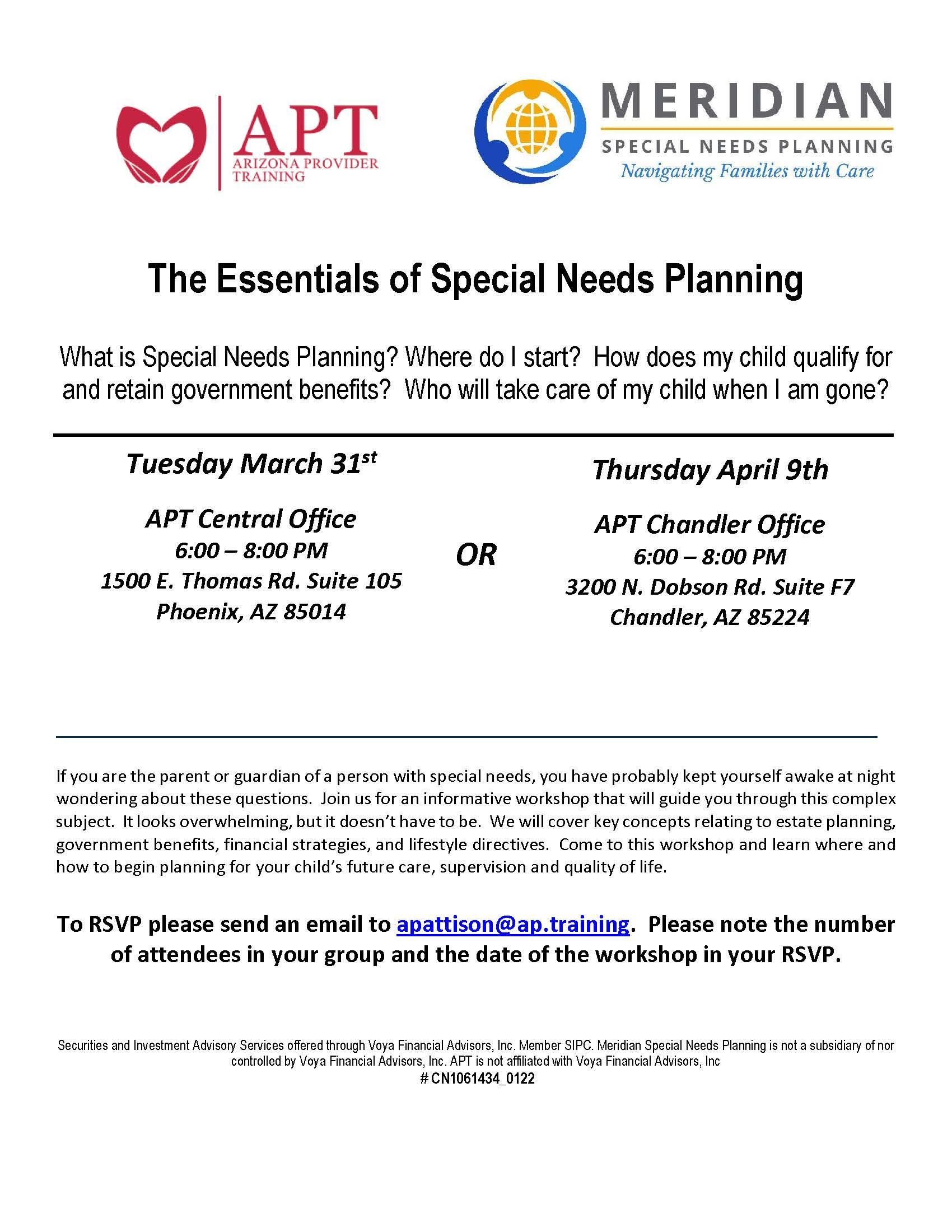 Essentials of Special Needs Planning Thumbnail