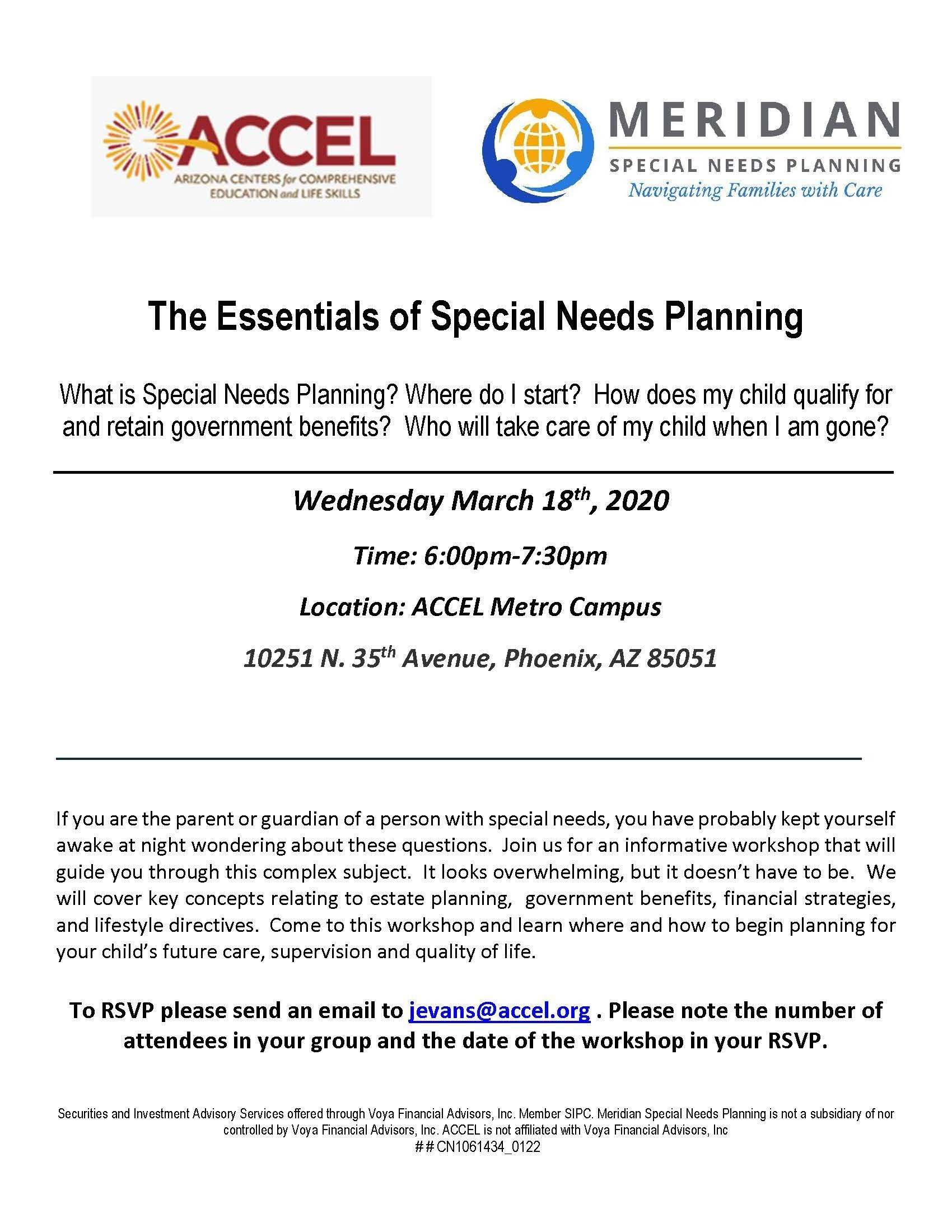 Essentials of Special Needs Planning Workshop Thumbnail