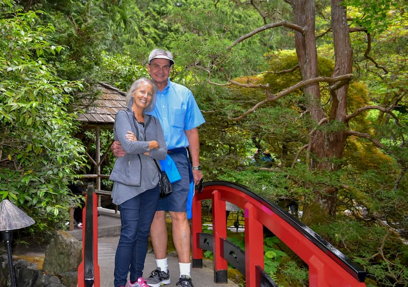 Joe and Robin at Butchart Gardens in Vancouver