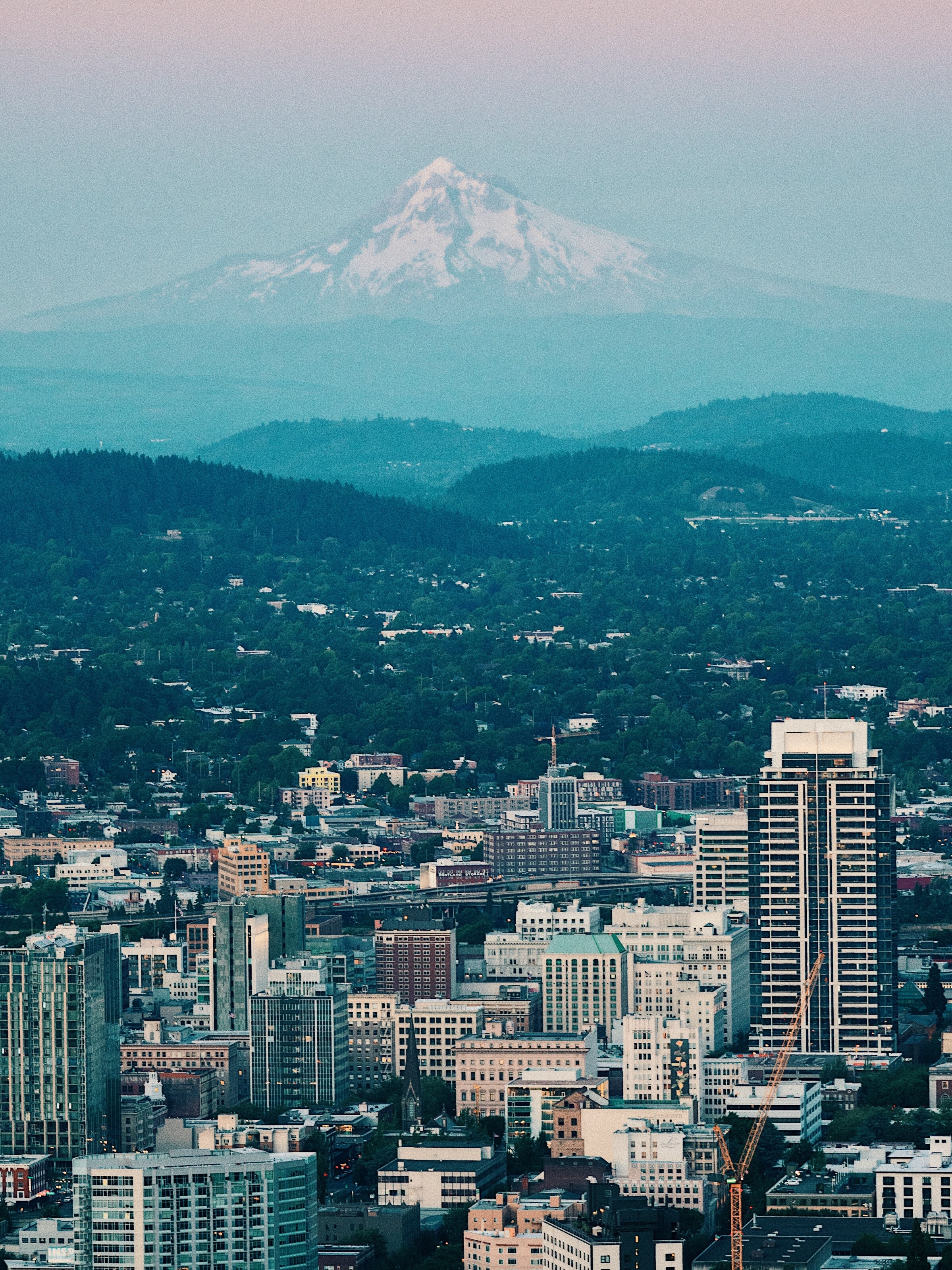 Skyline view of Portland