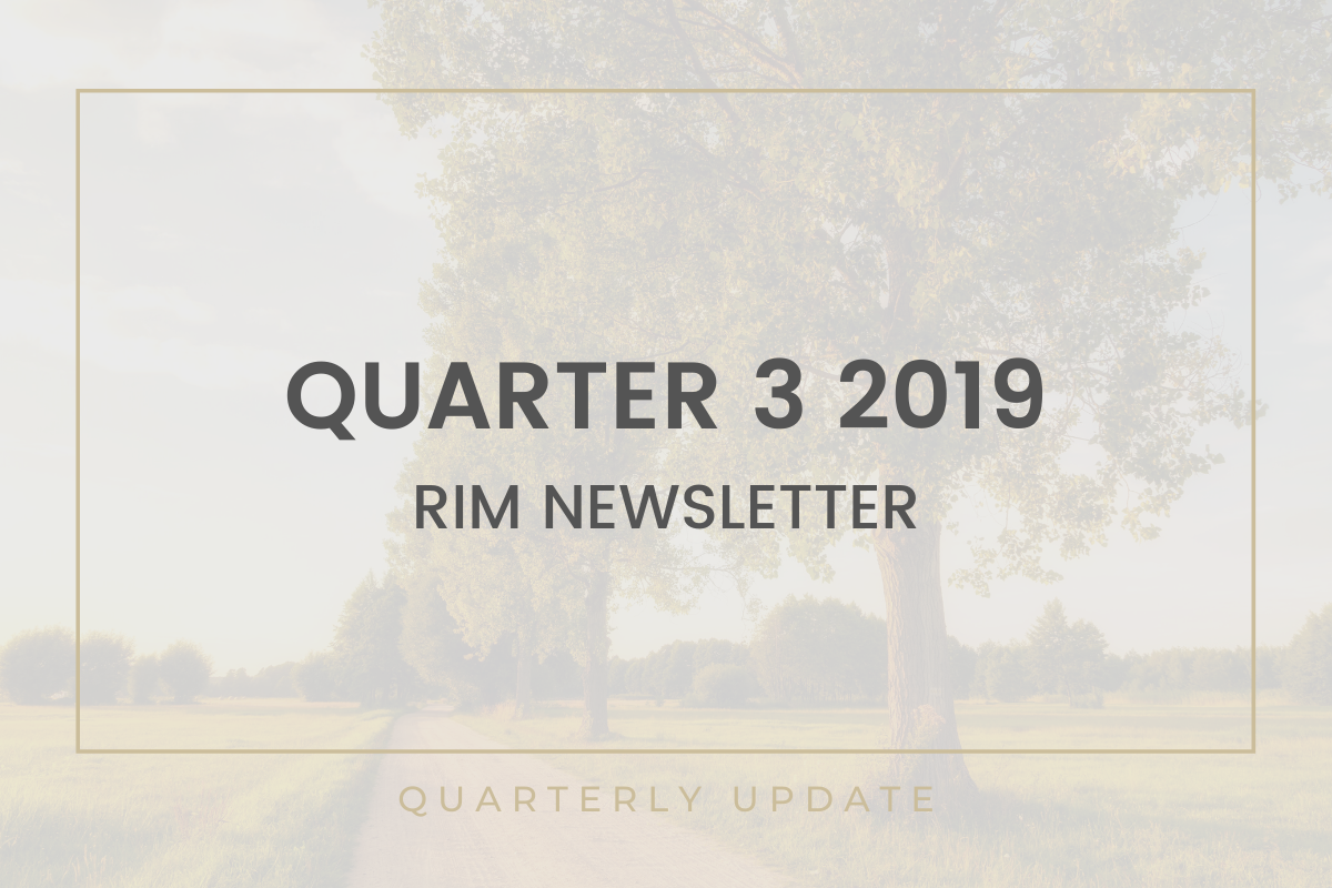 RIM Newsletter| Quarter 3 2019 Thumbnail