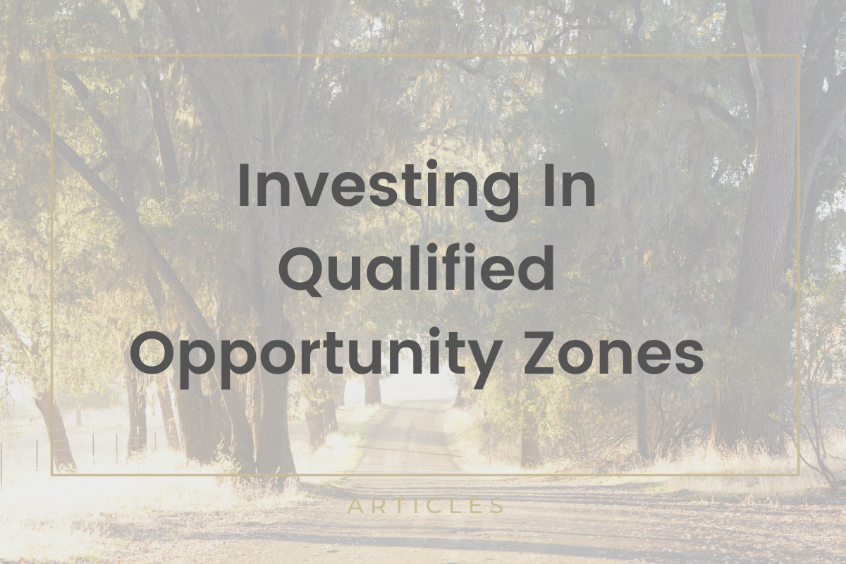 Investing in Qualified Opportunity Zones Thumbnail