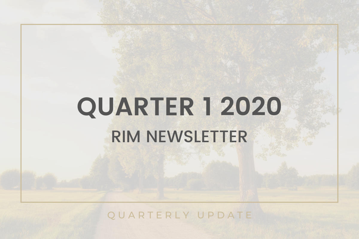 RIM Newsletter | Quarter 1 2020 Thumbnail