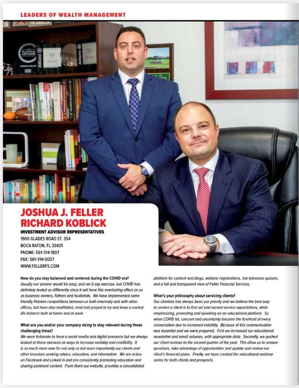 Profile of Feller Financial Services in SFBW magazine