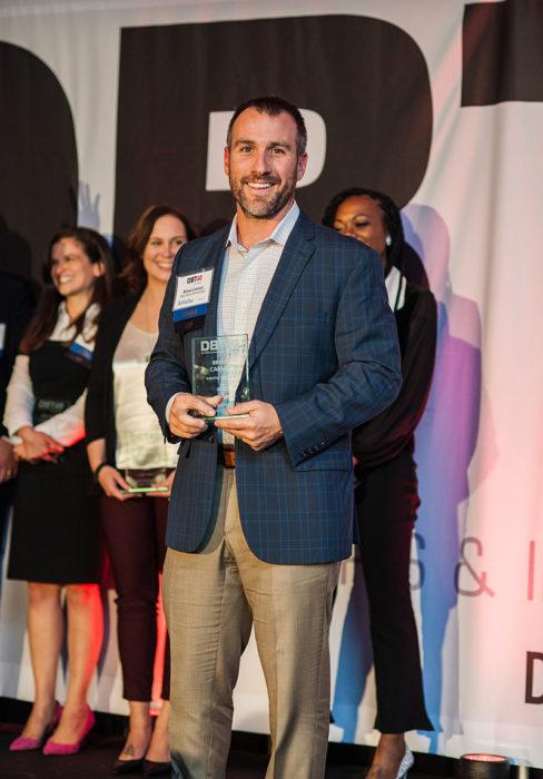 Brian Carney with award Wilmington, DE RiversEdge Advisors