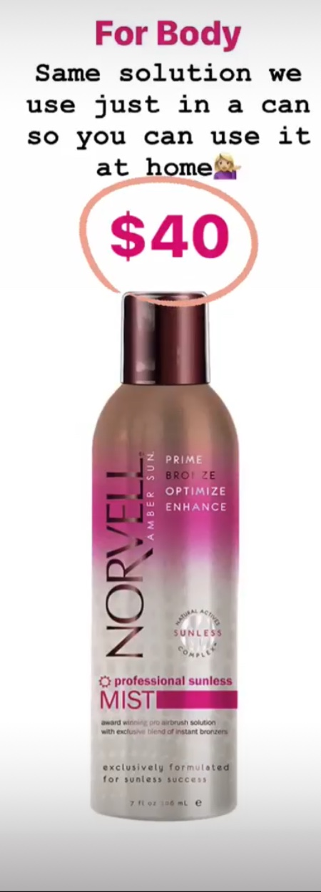 norvell spray tan mist