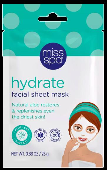 hydrate facial sheet mask spring break travel beauty essentials