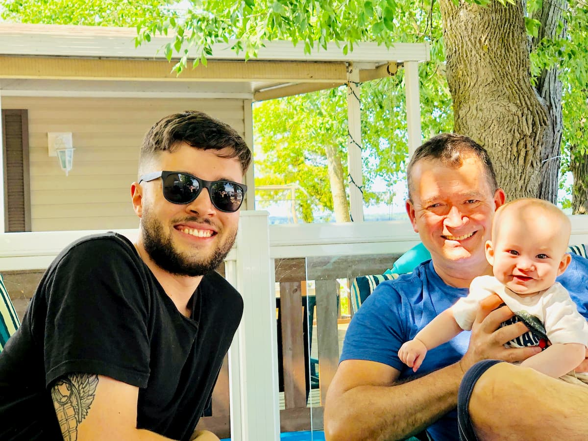 CHAD PARKER - Three generations of Parker men