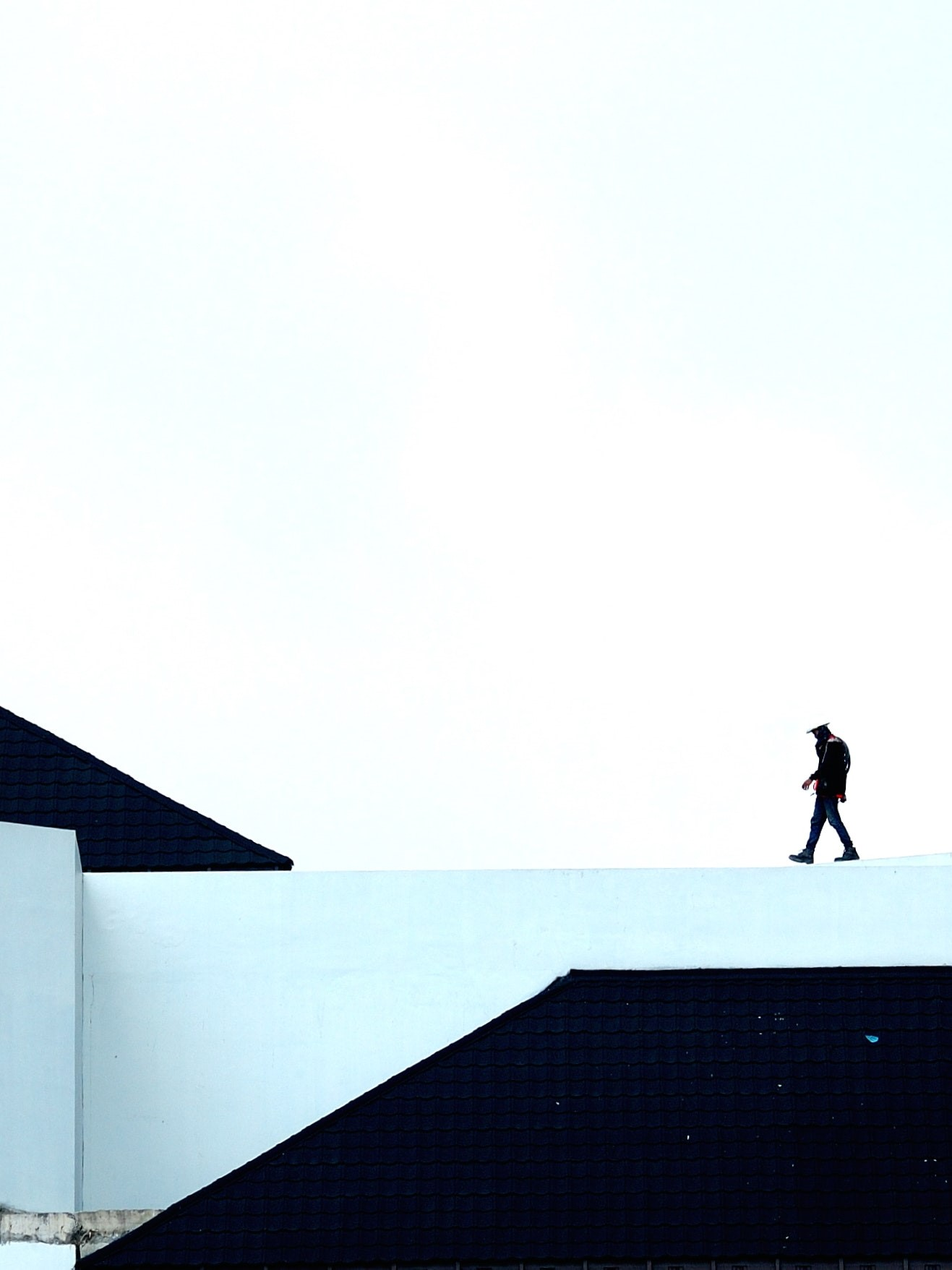 image of man walking