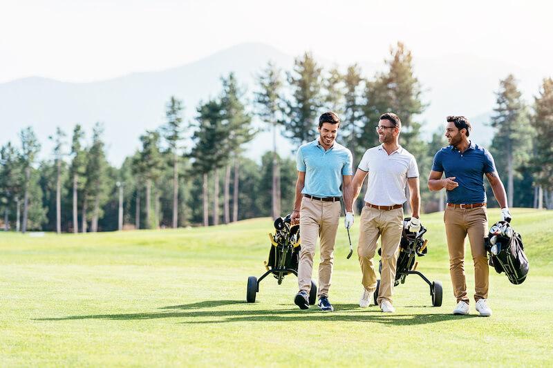 Men golf in Boulder Colorado
