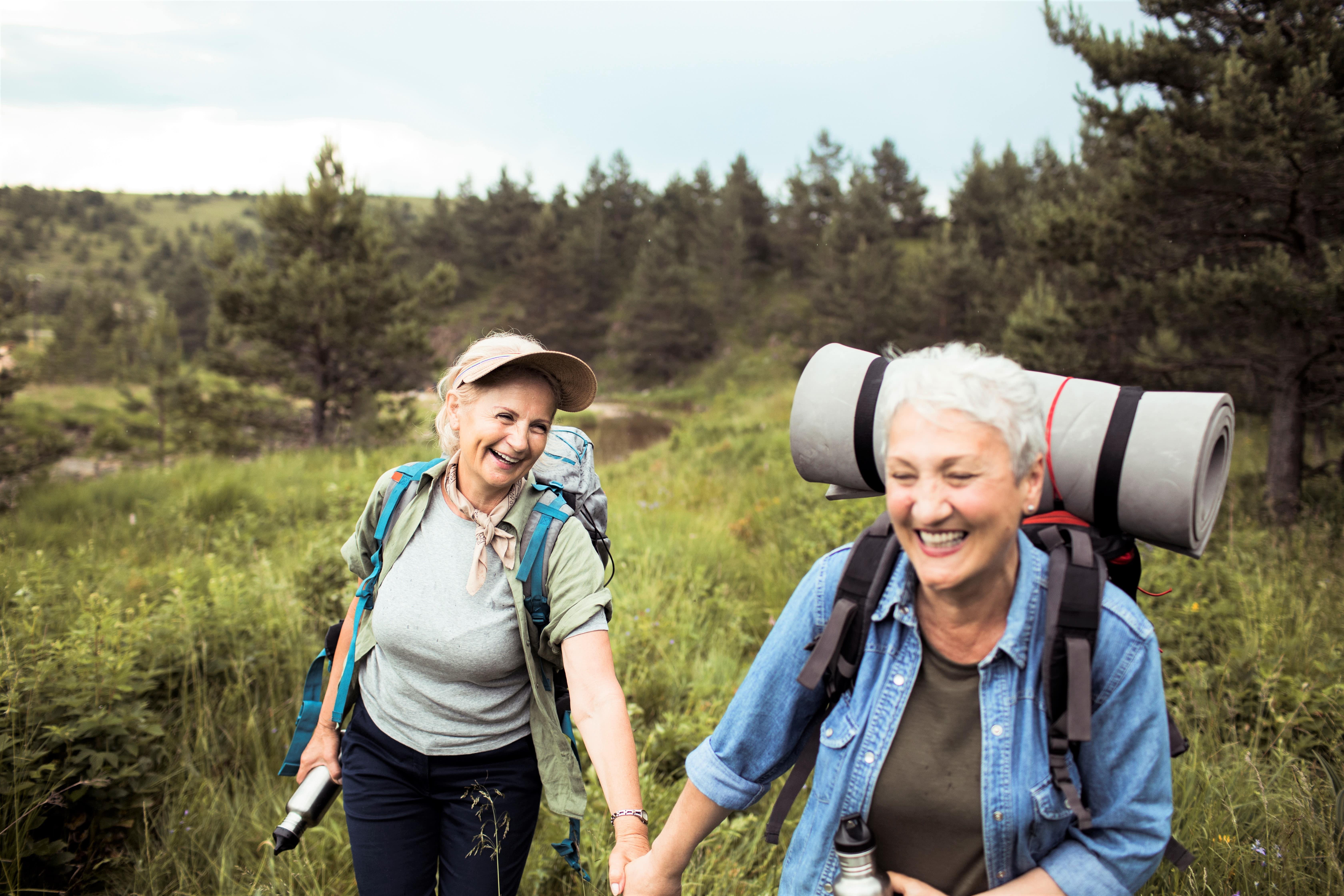 Lesbians hiking in Boulder Colorado