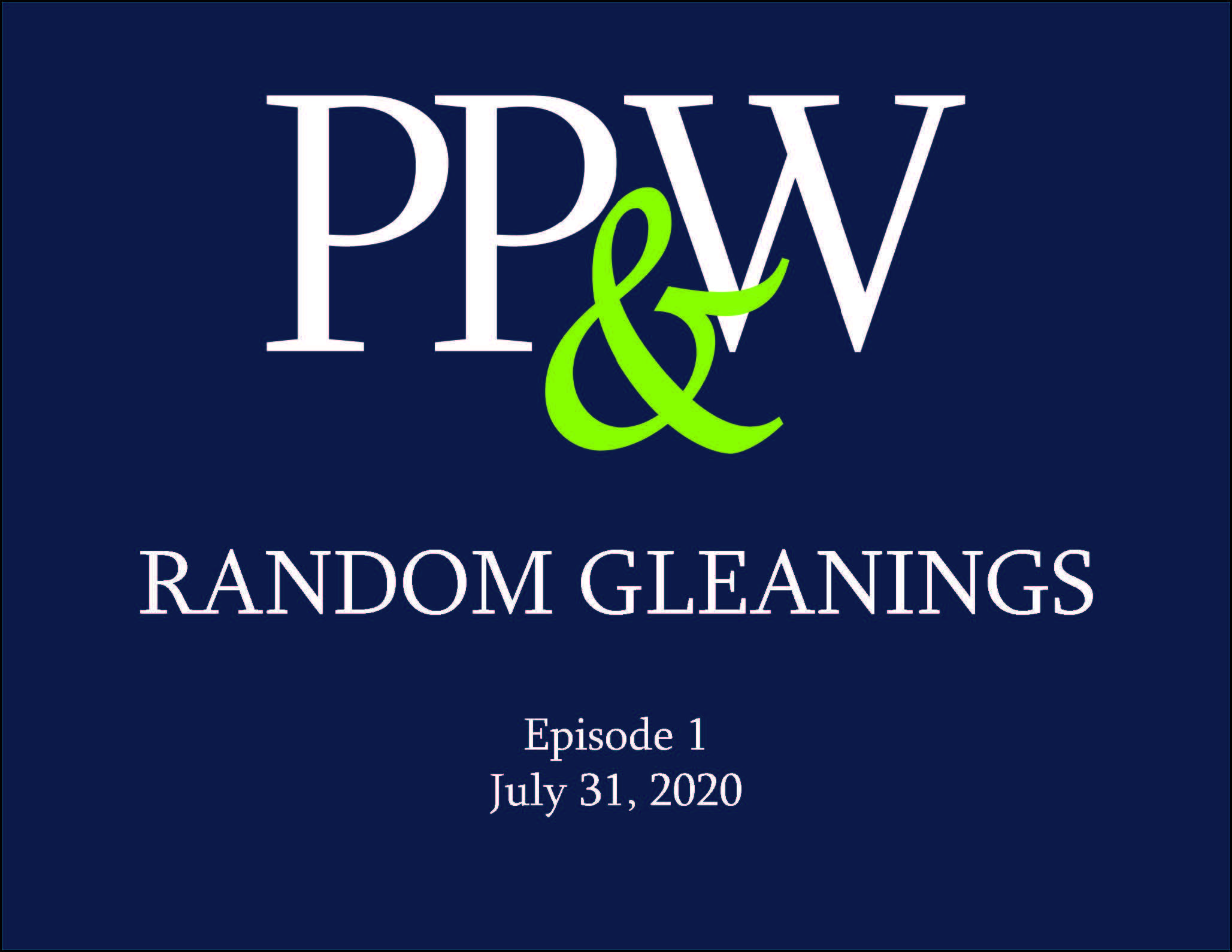 Random Gleanings, Episode 1 Thumbnail