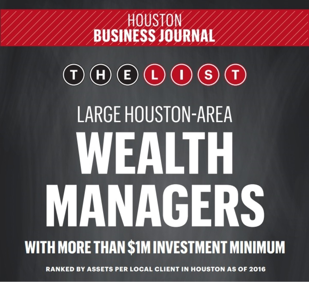 Investec - Houston Business Journal Largest Houston-Area Money Management Firms, 2017