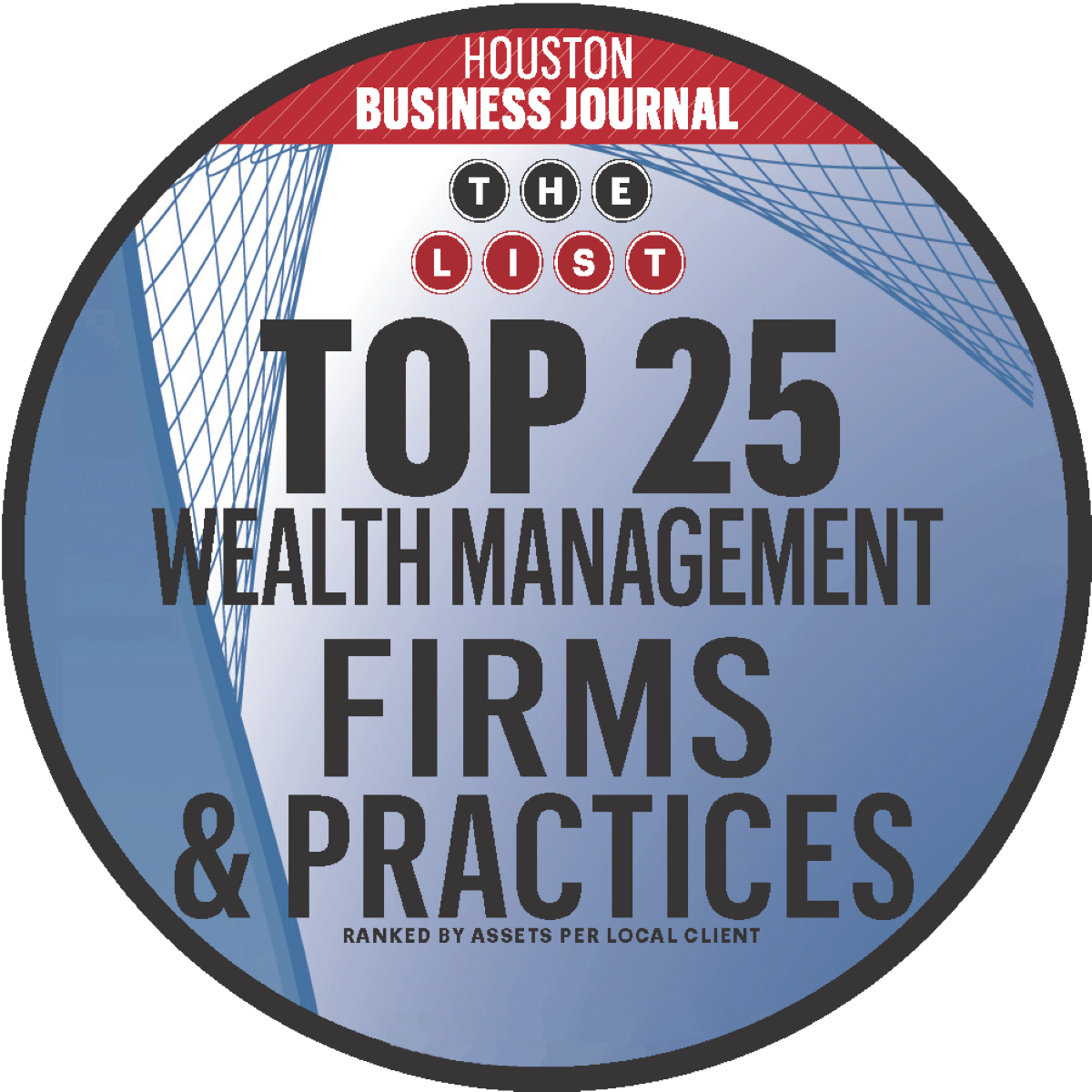 Investec - Houston Business Journal Top 25 Wealth Management Firms and Practices, 2016