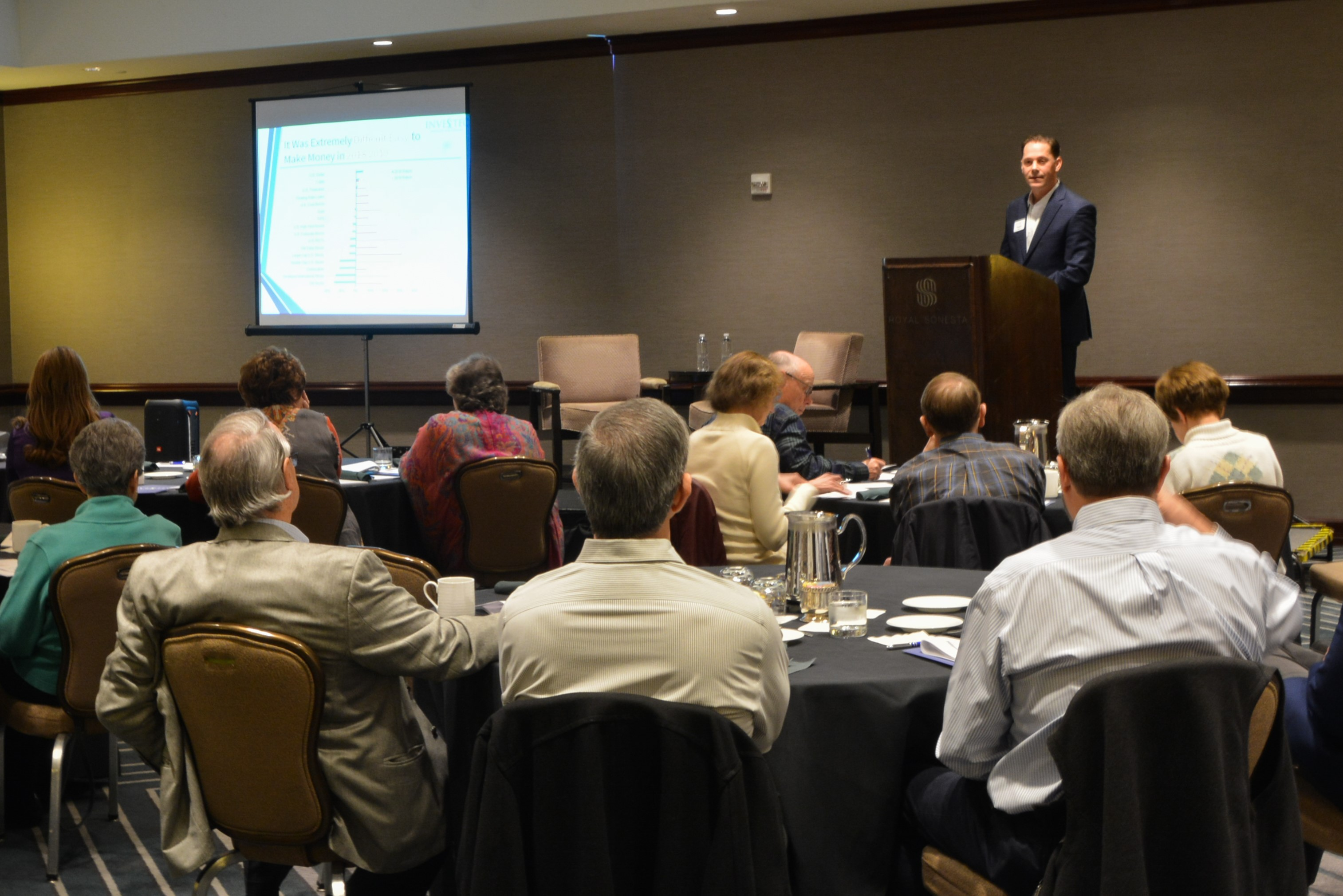 Daniel Goott, Principal, discussed market outlook with clients.