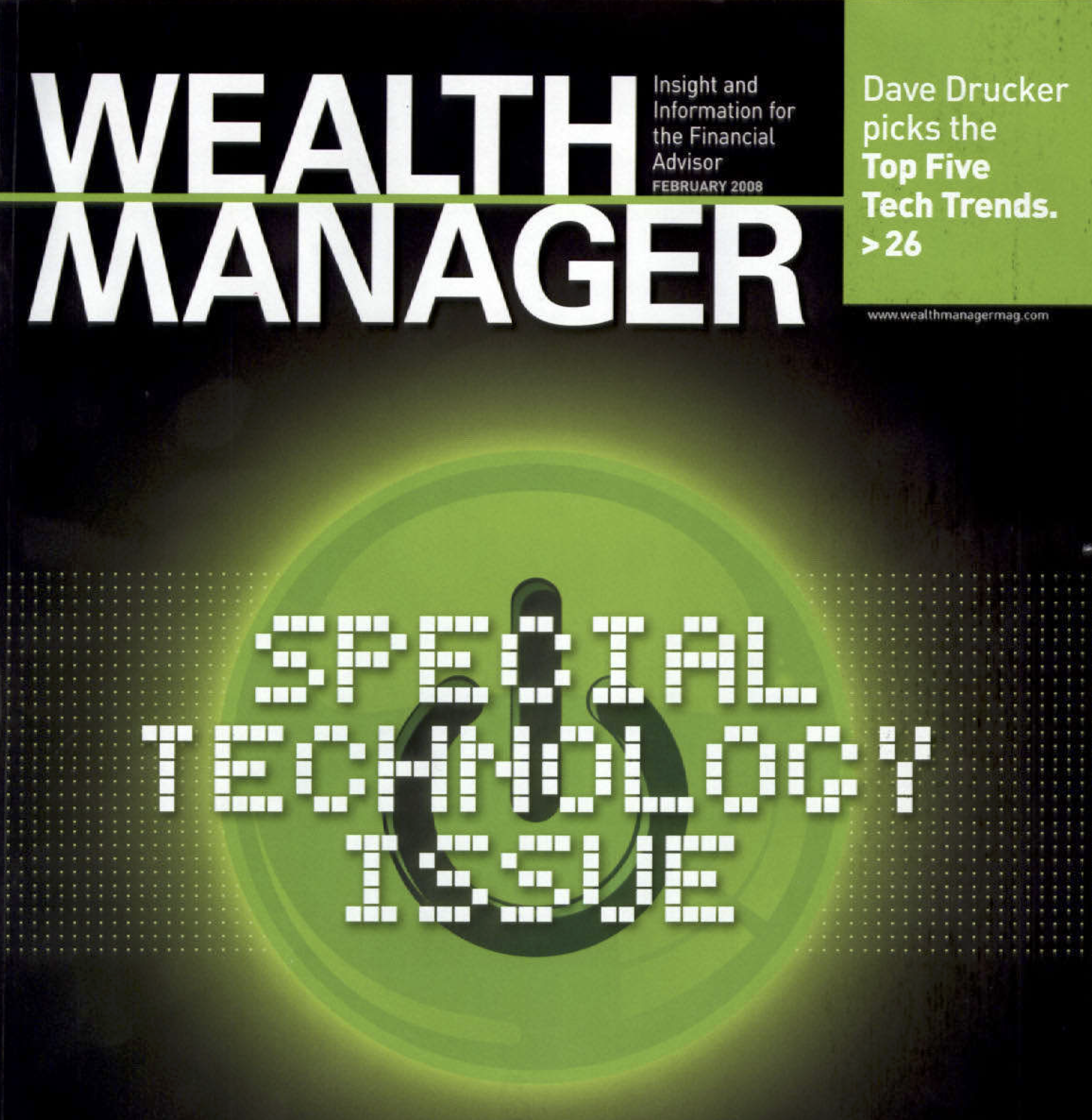 Investec - Wealth Manager Magazine Article Feature in Special Technology Edition, 2008