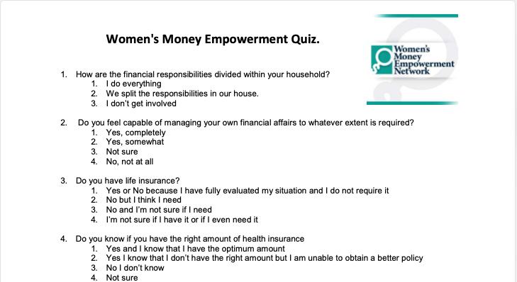 Take The Women's Money Empowerment Quiz Thumbnail