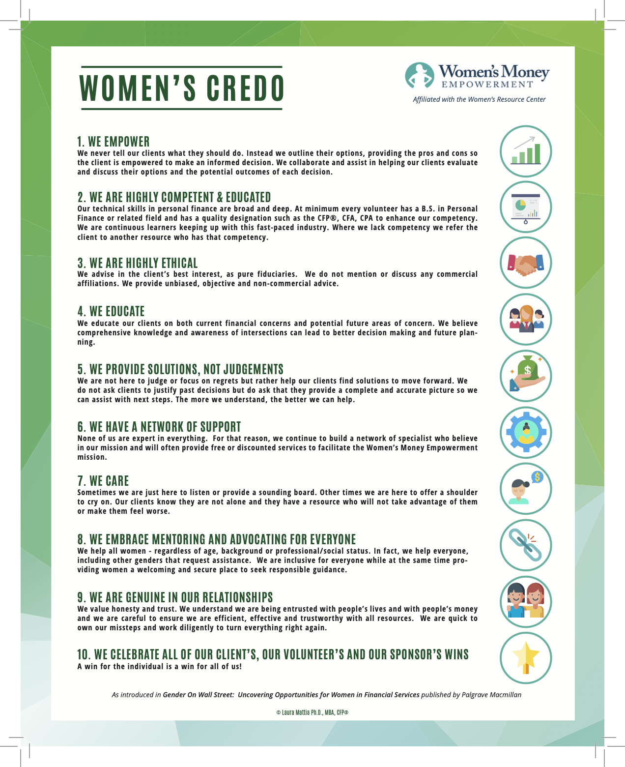 Women's Credo-Women's Money Empowerment