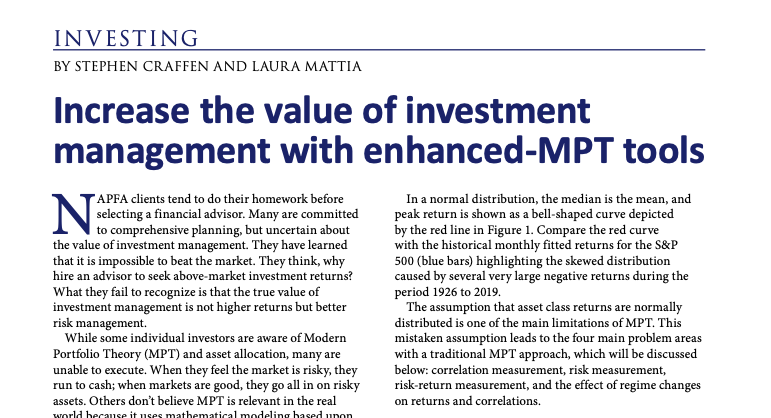 Increase the value of investment management with enhanced-MPT tools Thumbnail