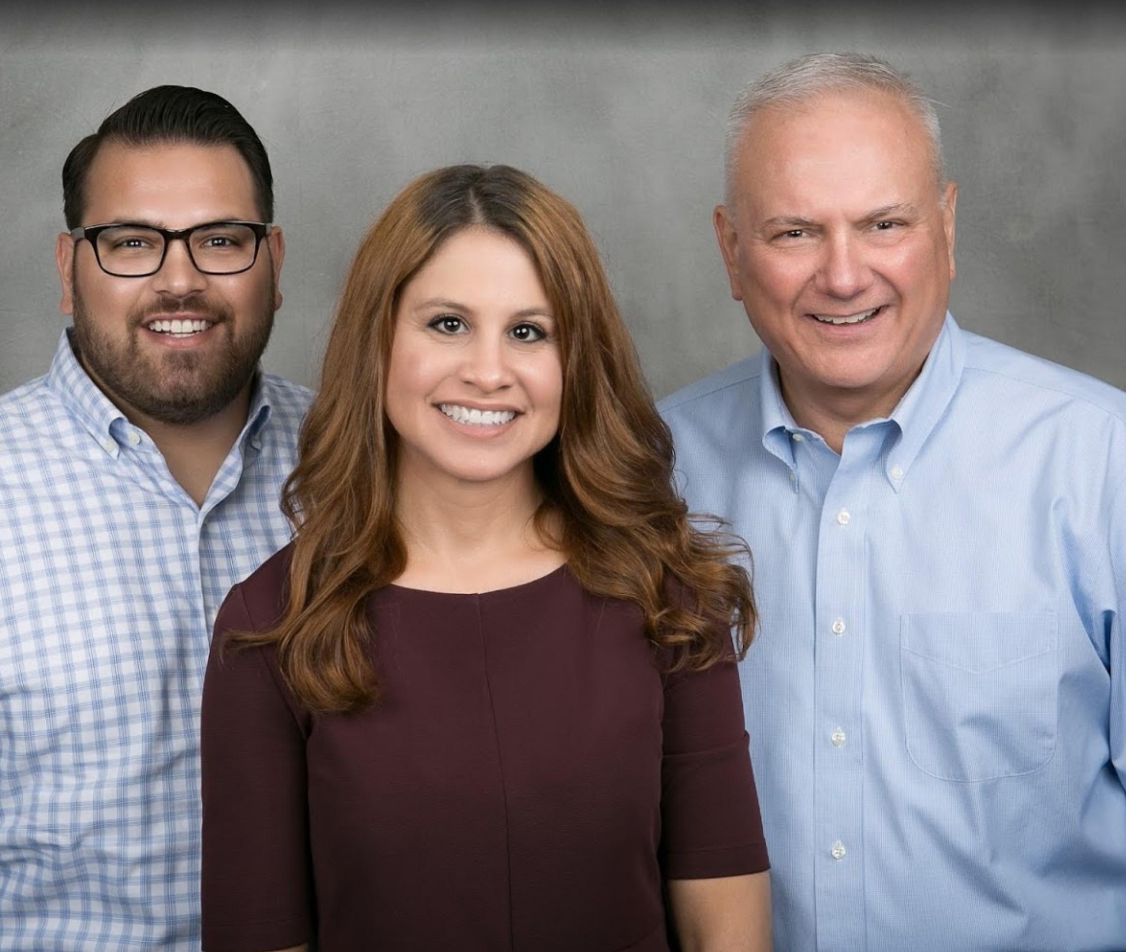 Photo of the Michael Brady & Co employees: Cameron Brady, Mercedez Hathcock, and Michael Brady