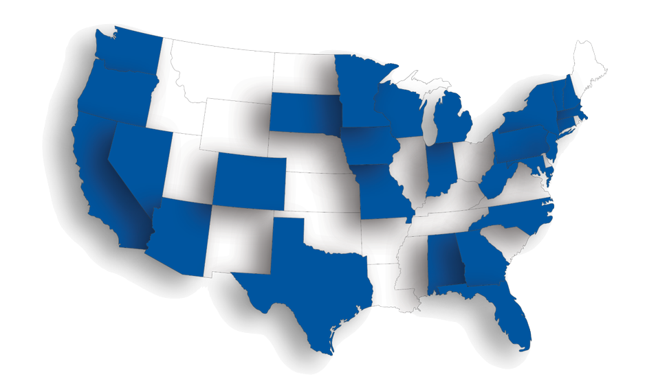 coverage map clients we serve Minneapolis, MN Marquette Wealth Management