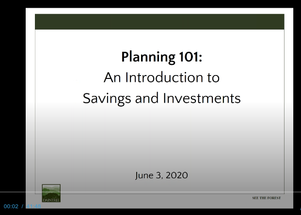 Planning 101: An Introduction to Savings and Investments Thumbnail