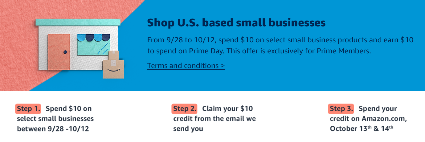 Amazon's Prime Day Promotional Credit Link Thumbnail