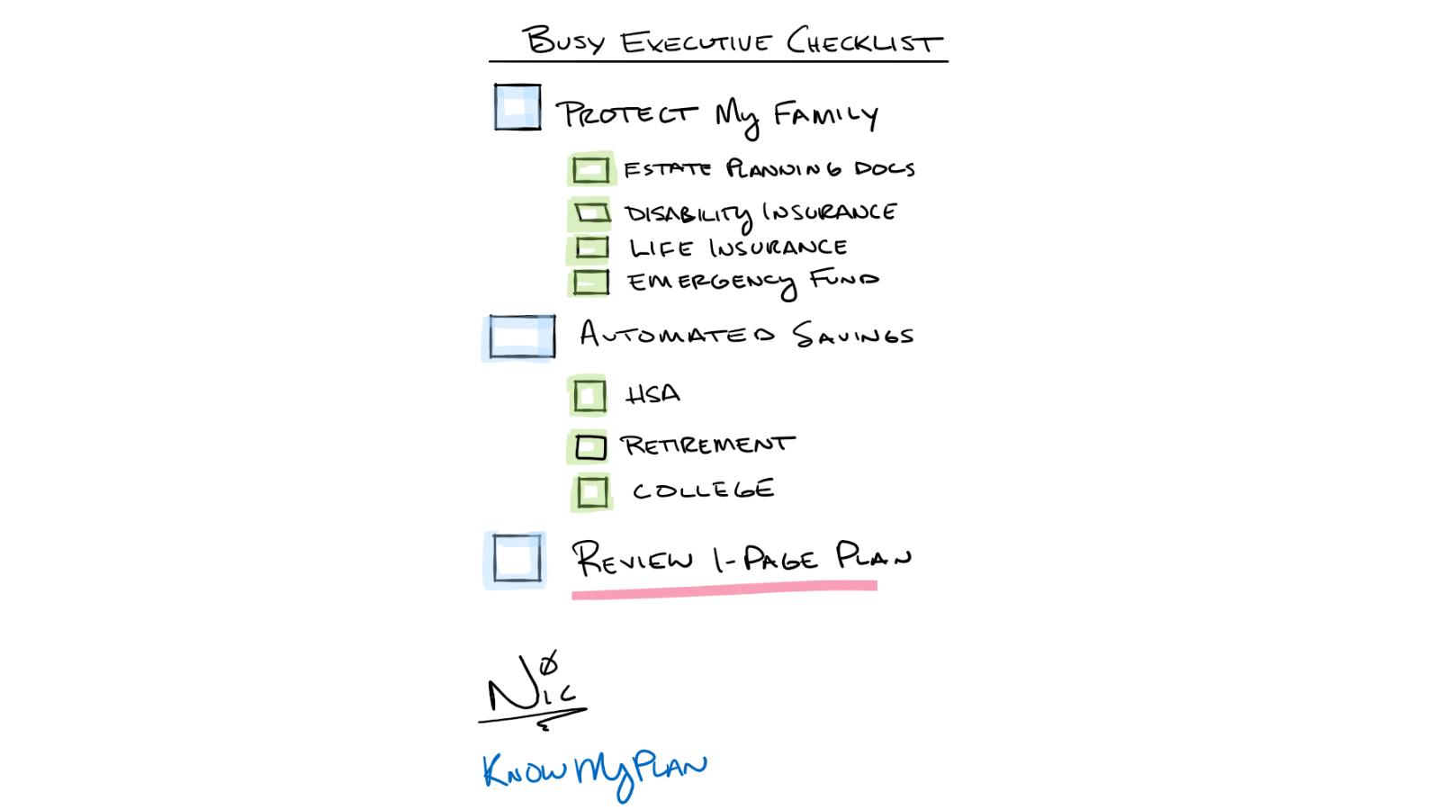 Busy Executive Checklist Thumbnail