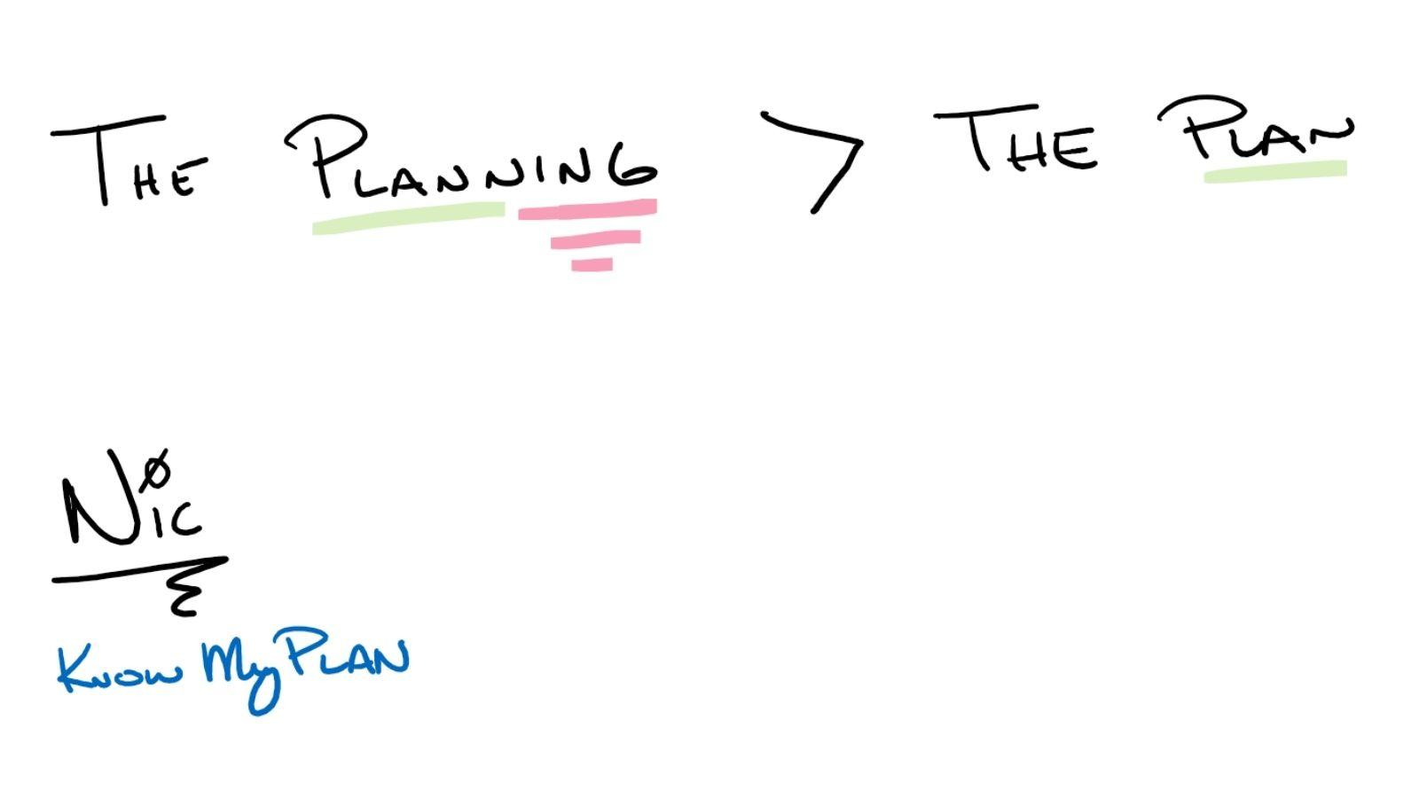 The Planning is Greater Than the Plan Thumbnail