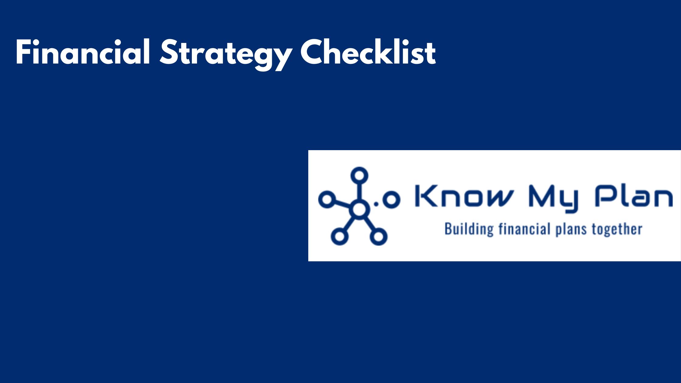 Financial Strategy Checklist Thumbnail