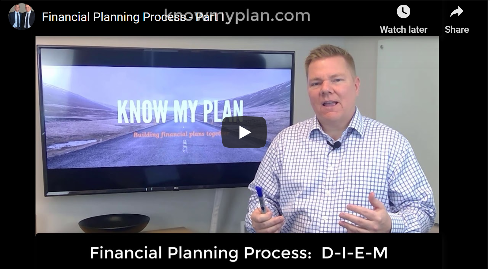 Financial Planning, Part I:  D-I-E-M Thumbnail