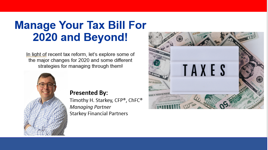 Manage Your Tax Bill For 2020 and Beyond Thumbnail