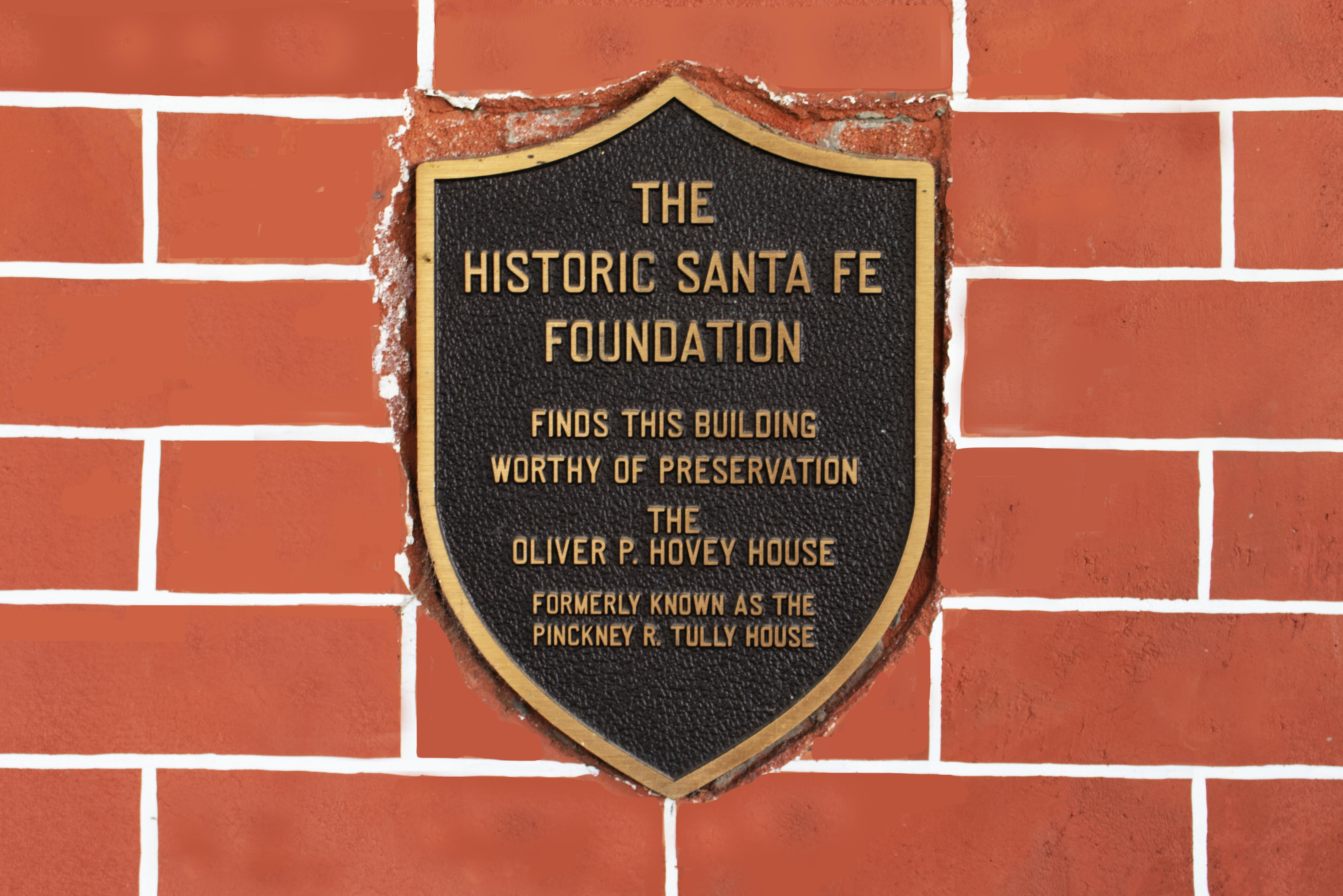Historic Santa Fe Foundation plaque Santa Fe, New Mexico LongView Asset Management