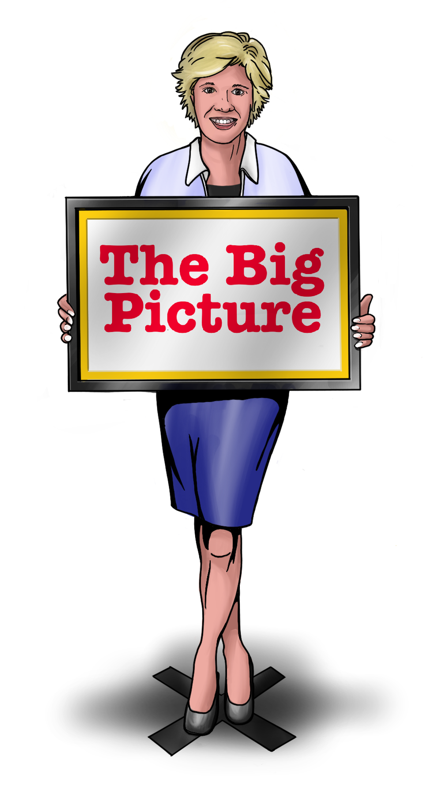 Melinda McCaslin headshot & illustration