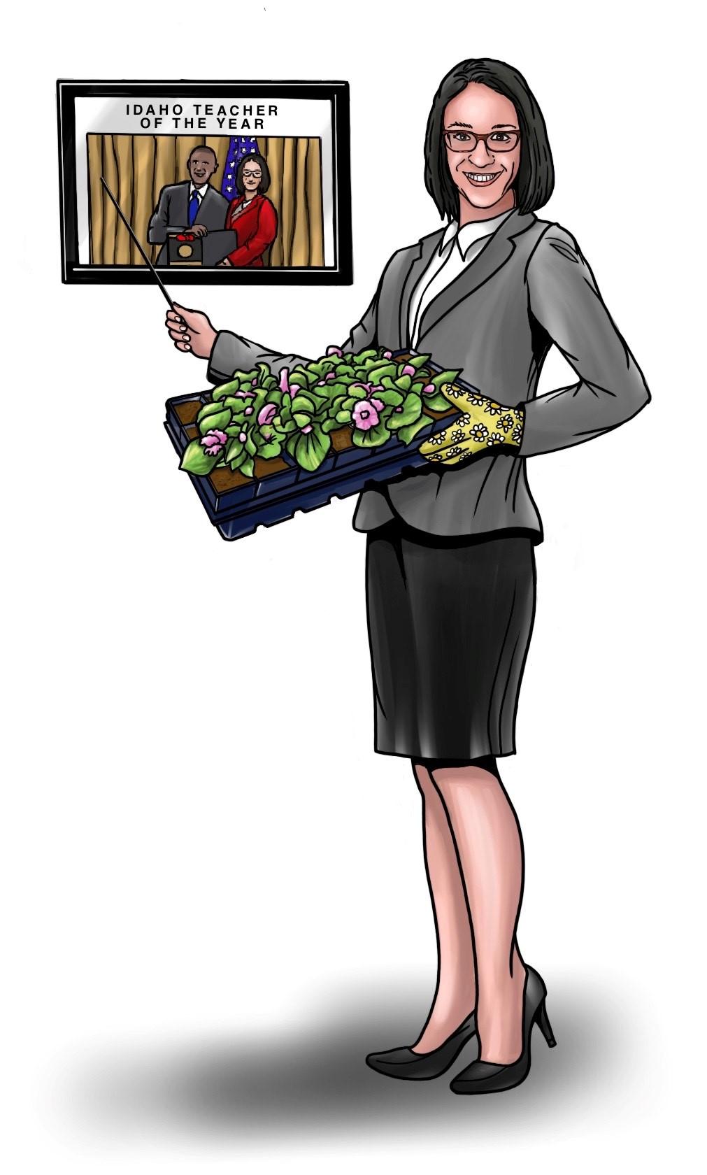 Sonia Galaviz headshot & illustration