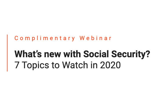 What's New with Social Security? Thumbnail