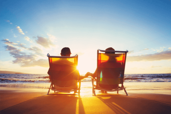 retiring on a beach