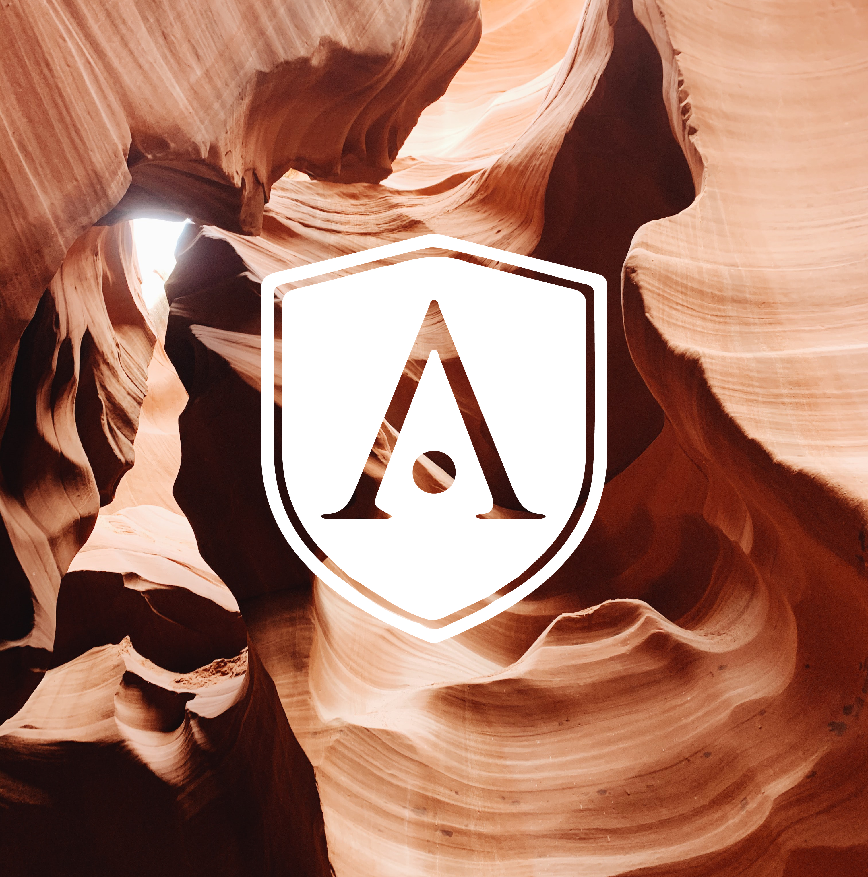 aegis logo over rock formations