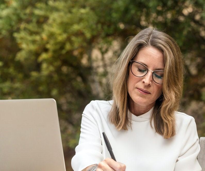 A Women working outside